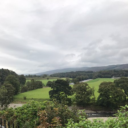 Ruskin view near Kirkby Lonsdale. Radical steps close by that takes you up into the churchyard. Beautiful walks and views.