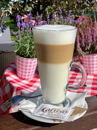 Coffee day. Let's have a great latte in Cucina Wilanow