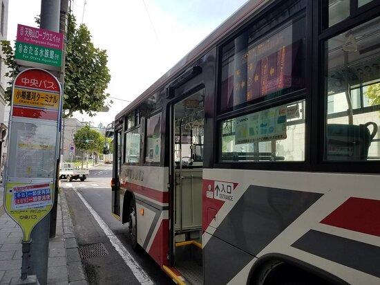 小樽運河ターミナルからバスに乗って天狗山へ