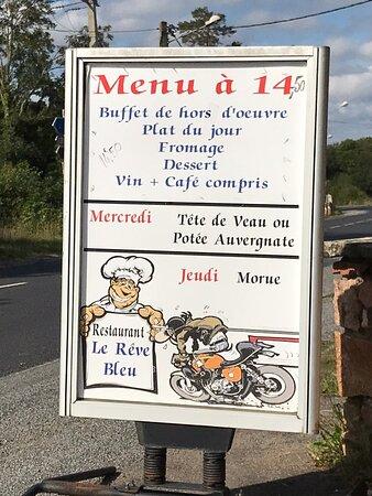 Manzat, France : Restaurant Le Reve Bleu