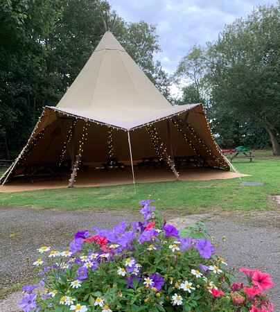 Our new Tipi is all ready to use!