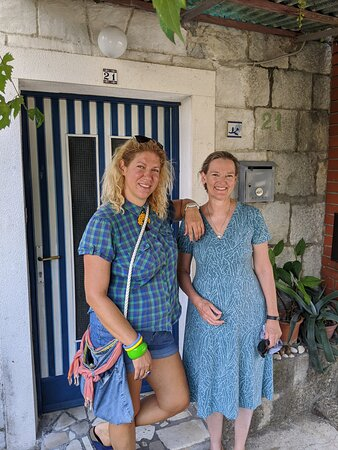 Ivana (on the left) and me, outside her home