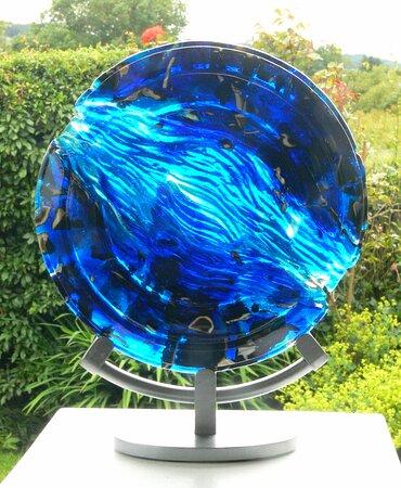 Bullseye glass casting by Ailsa Nicholson