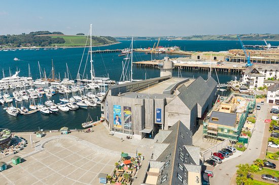 Φάλμουθ, UK: National Maritime Museum Cornwall from the air.