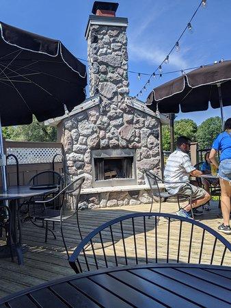 Portland, MI: outdoor fireplace