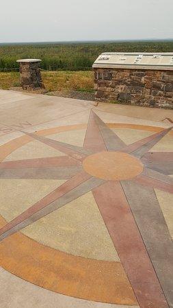 Hoyt Lakes, MN: concrete compass