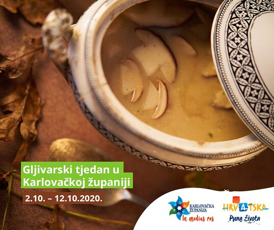 We are happy to invite you to Mushroom week, which is taking place throughout Karlovac county until 12th of October.  For more information visit our official web page.
