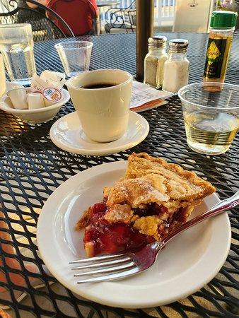Cherry pie for dessert