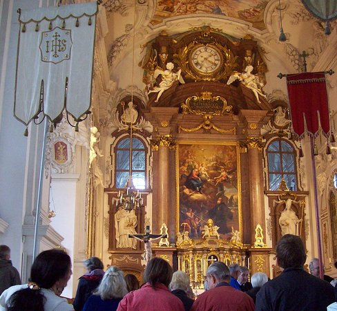 Benediktbeuern, Almanya: Klosterkirche innen
