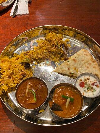 ビリヤニThali@マユール立川。Enjoy Chicken Biriyani Thali at Mayur in Tachikawa。南インド料理。