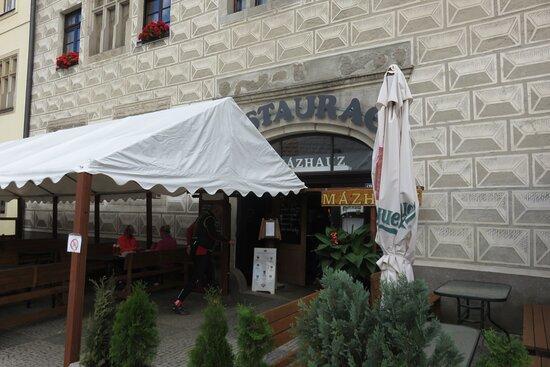 Slavonice, Çek Cumhuriyeti: restaurace