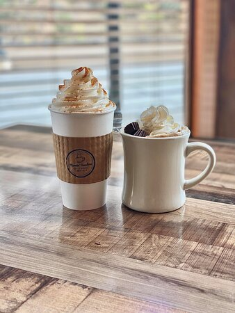Pumpkin Spice Latte and Peanut Butter Cup Latte