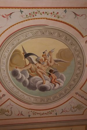Buggiano Castello, Italie : Le plafond de notre chambre