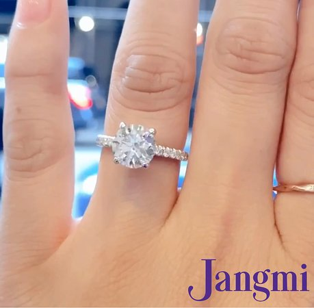 2ct round cut diamond on our classic love set pave in platinum.