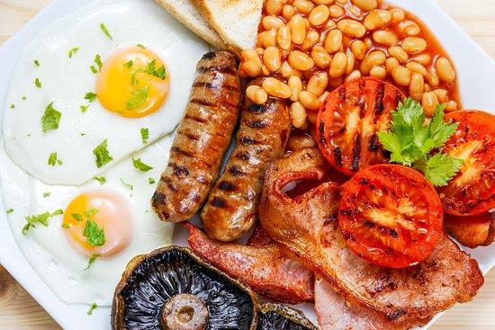 Full English breakfast at Abbots Grange