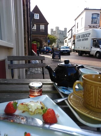 Cream tea with an incredible view