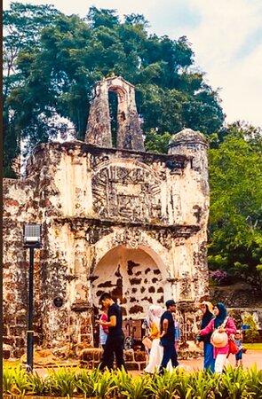 มาเลเซีย: A'Formosa Portuguese fort ruins in historic malacca
