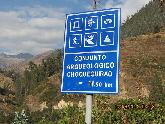 Cachora, Perú: Letreros del Camino a Choquequirao