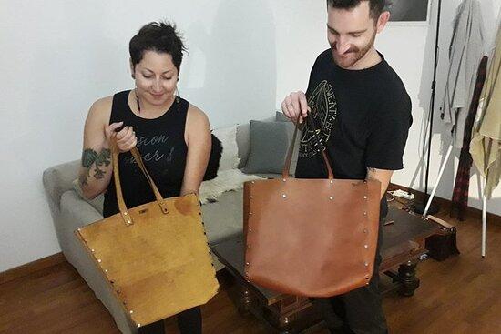 Genuine Leather Tote Bag Workshop in Leiden