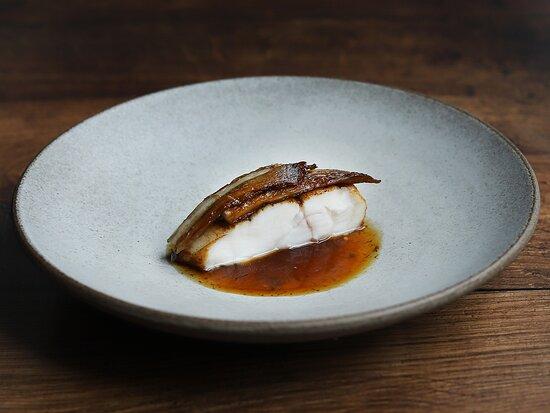 Monkfish and mushroom.