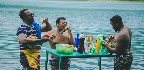 Mbeya Region, Tanzanija: Lake Kisiba also known as Lake Masoko. Our Beach Bar