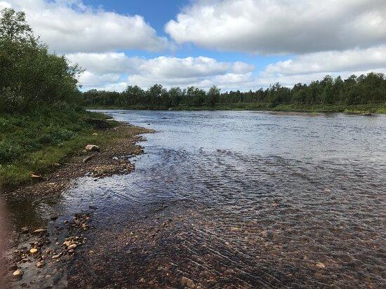 Kaamanen, Finnország: Kielajoki - the river