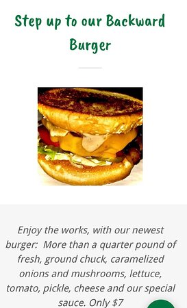 Veneta, OR: Fun, new Burger!