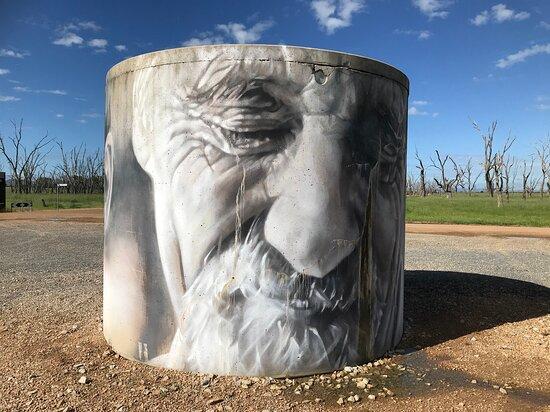 Winton Wetlands Water Tank Art
