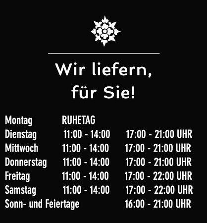 Weikersheim, Đức: 🔴Unsere Öffnungszeiten🔴  Wir liefern, für Sie✔️