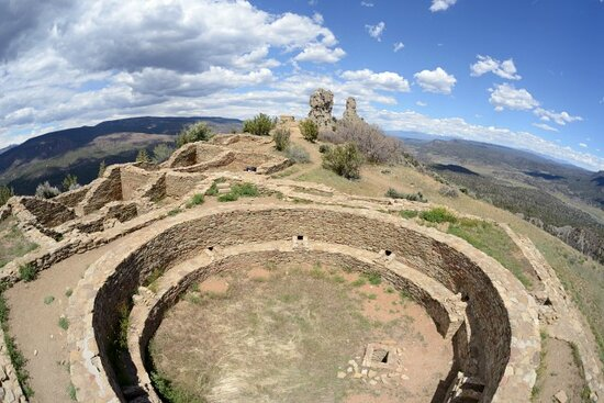 Visit the Great House on top of the Chimney Rock Mesa during one of our tours!