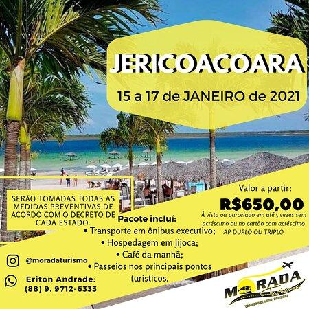 Morada Nova, CE: Vamos para Jericoacoara nas férias de Janeiro? de 15 a 17 de janeiro de 2021