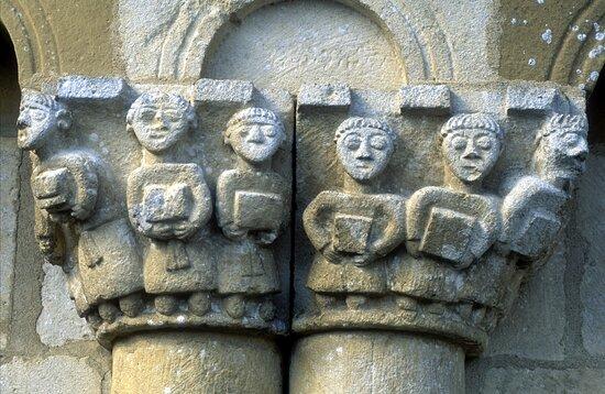 Hastingues, France: Abbaye d'Arthous - Sculpture romane du chevet
