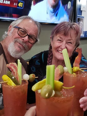 Blue Jay, CA: Having the best Bloody Mary's on the mountain