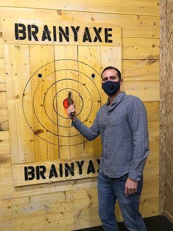Fun competitive axe throwing!