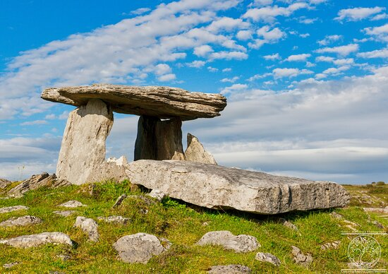 """County Clare, Ireland: """"Portal Tomb of Poulnabrone""""  The Portal tomb dates back over 5000 years at stands as a testament to early inhabitants of Ireland."""
