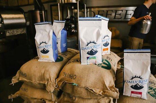 Daily Rise Coffee Ogden: Calling all super coffee drinkers out there 📣 These 5lb bags are always available on dailyrisecoffee.com and shipping is free!   (P.S. The Bean of the Month discount applies to these too!)