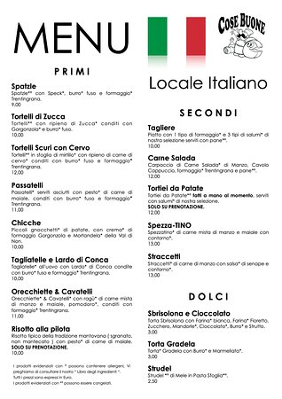 L'attesa è finita! Ecco il nuovo menu che parte proprio da oggi! Vieni a scoprirlo da Cose Buone a Cavareno! #cosebuone1998