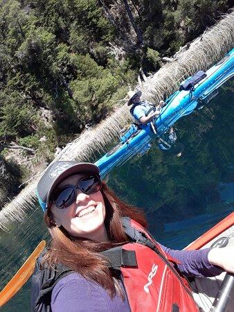 Lago espejo, Villa La Angostura. Salida con Alexis de Endurance kayak. La perfección salta a la vista.