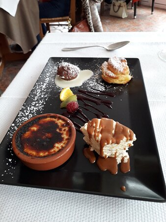 Jumieges, Ranska: Farandole de 4 desserts