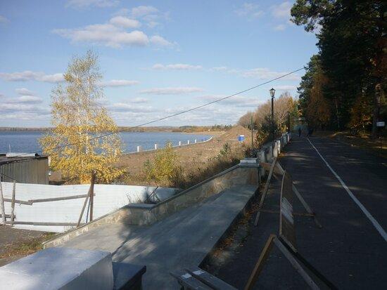 Ust-Kachka, Rusia: Кажется, эта история с ремонтом набережной никогда не закончится!