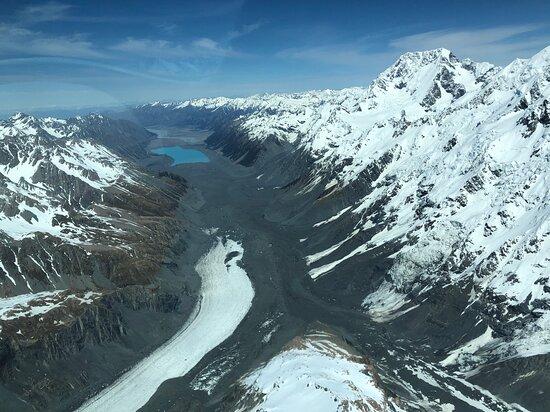 Looking down the Tasman Valley