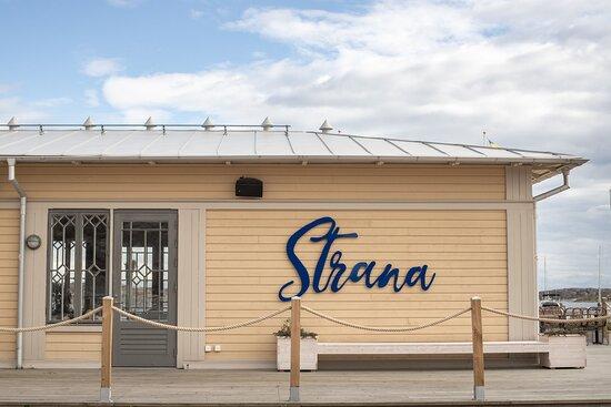 Halleviksstrand, Sverige: En del av fasaden på utsidan