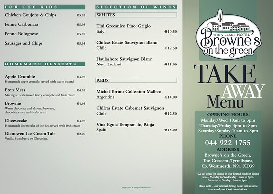Tyrrellspass, Irlandia: Take-Away menu