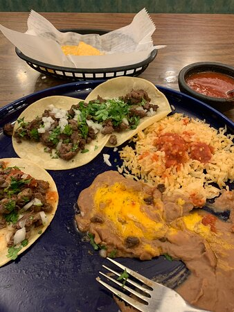 Gothenburg, Nebraska: My server recommended the steak street tacos and she was spot on with the recommendation - super good and served with plenty of fresh salsa and lime wedges.