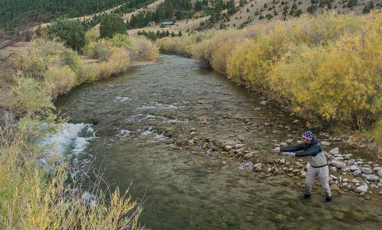 Alder, MT: Fly fishing the Ruby River.
