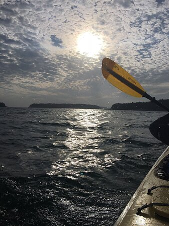 Upwest & Downeast Sea Kayaking: Wonderful time spent with Rebecca and beautiful ending to the day. -October 1, 2020