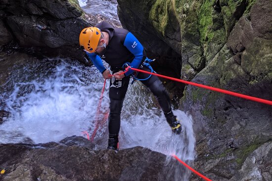 Ghyll-scrambling, canoeing and abseiling with North Star Adventure UK