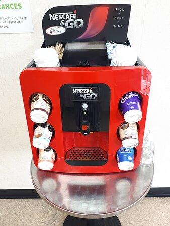 Nelson, UK: We serve Nescafe Go