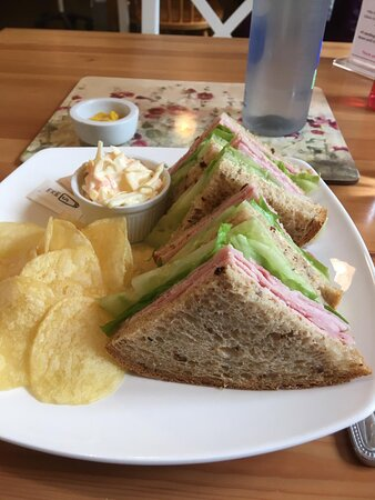 A perfect ham sandwich.