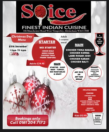 Christmas dinner fills our belly, but the events surrounding that holiday sit down, fill so much more. From the food, people and things to do, it really is the most wonderful time of the year.  The fondest memories are made gathered around a table. Make your 2020 Christmas memories with us at Spice......  Book your table now.